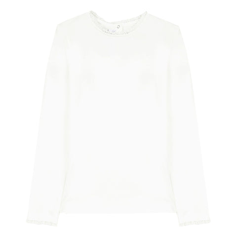 Pearly round-neck pullover