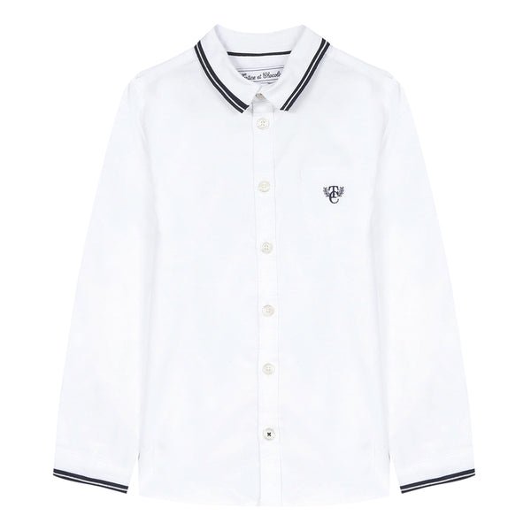 White Oxford shirt with embroidery