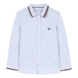 Sky blue Oxford shirt with embroidery