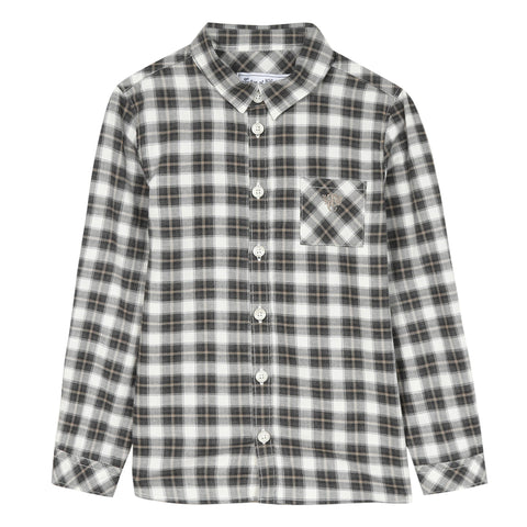Pearly large checked shirt with three colors