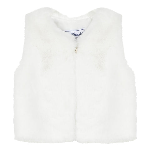 *NEW* Pearly faux fur sleeveless jacket