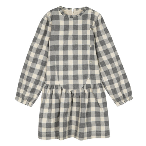 *NEW* Beige checked Lurex dress