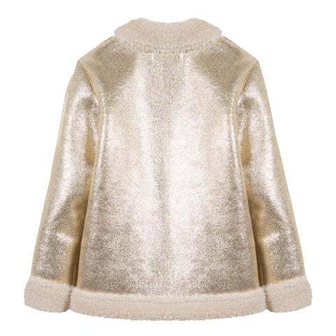*NEW* Gold jacket with sparkly sheepskin