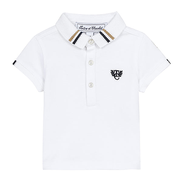 * NEW *  White pique polo