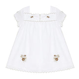 * NEW *  White dress with gold embroidered flower