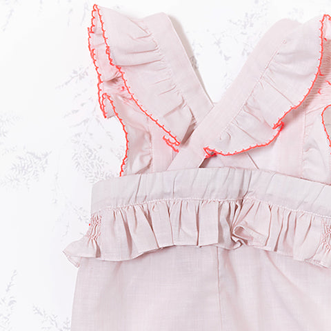 * NEW *  Pink one piece with ruffle detail