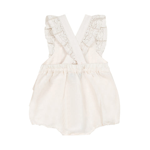 Light pink ruffled romper