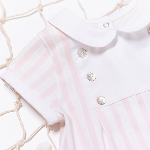 * NEW *  Pink Garda striped bodysuit