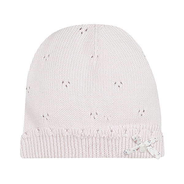* NEW *  Pink knit hat with Liberty bow