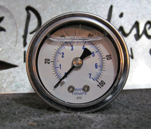 0-100 psi Fuel Pressure Gauge