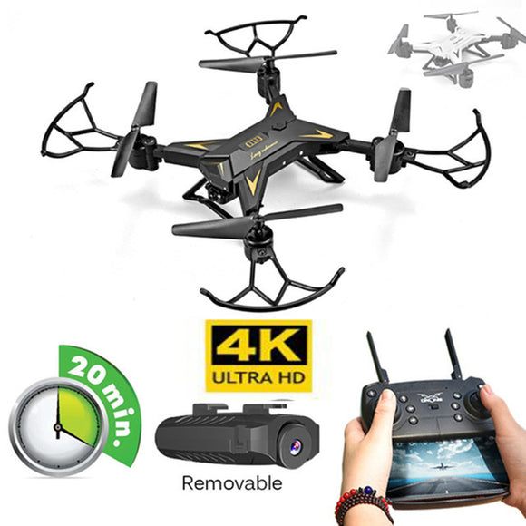 New RC Helicopter Drone Camera HD 4K/1080P WIFI FPV Selfie Drone Professional Foldable Quadcopter 20 Minutes Battery Life