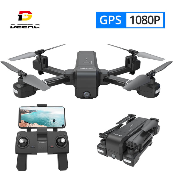 DEERC DE25 GPS Drone FPV with 1080p HD Camera Wifi RC Drones Selfie Follow Me Quadrocopter Quadcopter GPS Glonass Kvadrakopter