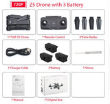 SJRC Z5 Quadrocopter with HD 720P/1080P Camera GPS Drone 2.4G/5G Wifi FPV Altitude Hold Follow Me Mode Dro vs Visuo XS812