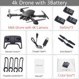 M66 Wifi FPV RC Drone 4K Camera Quadcopter 1080P Dual Camera Optical Flow Positioning Gesture Photo Dron Vs Visuo Xs816 SG106