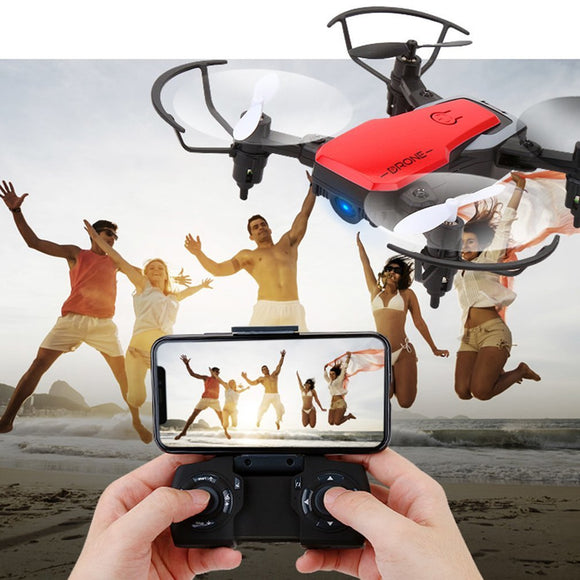 GW10 Mini Drone 4CH G-Sensor Wide Angle Lens 0.3MP Wifi RC Drone Altitude Hold Headless Mode Foldable Quadcopter with LED