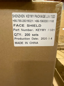 FS-01 BOX of 200 Non-Medical FACE SHIELD - FREE SHIPPING IN CANADA THAT'S ONLY $ 1.50 / SHEILD!