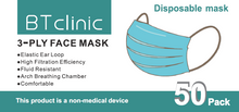 Load image into Gallery viewer, M6002 Disposable 3 ply Face Masks non-medical 50 pack - FREE SHIPPING IN CANADA