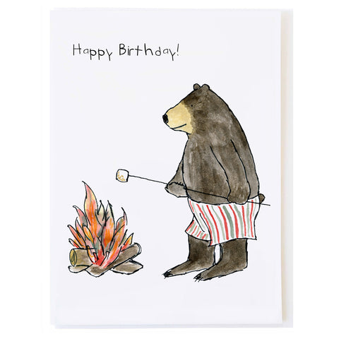 Bear Roasting Marshmallow