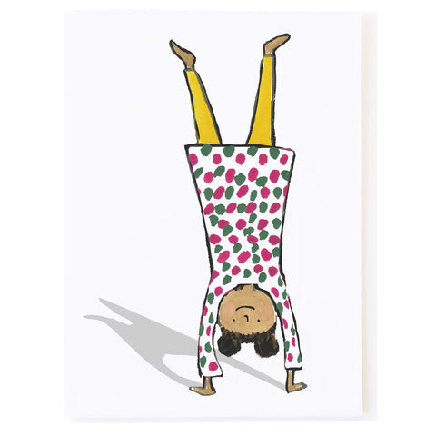 Handstand Yellow Tights