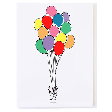 Mouse with Balloons