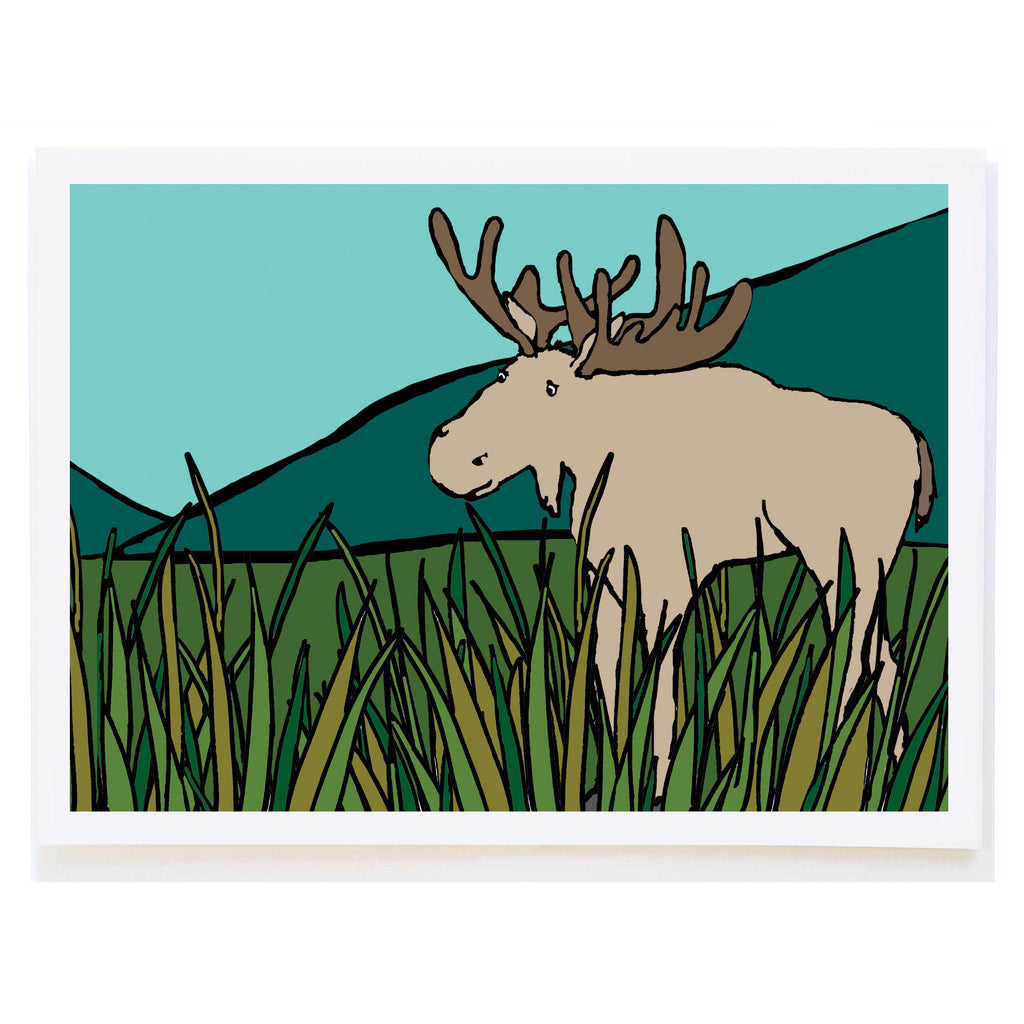 Moose in Grass