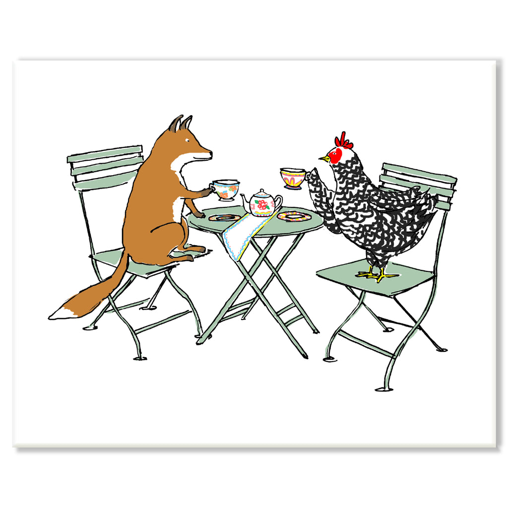 Fox and Chicken Print