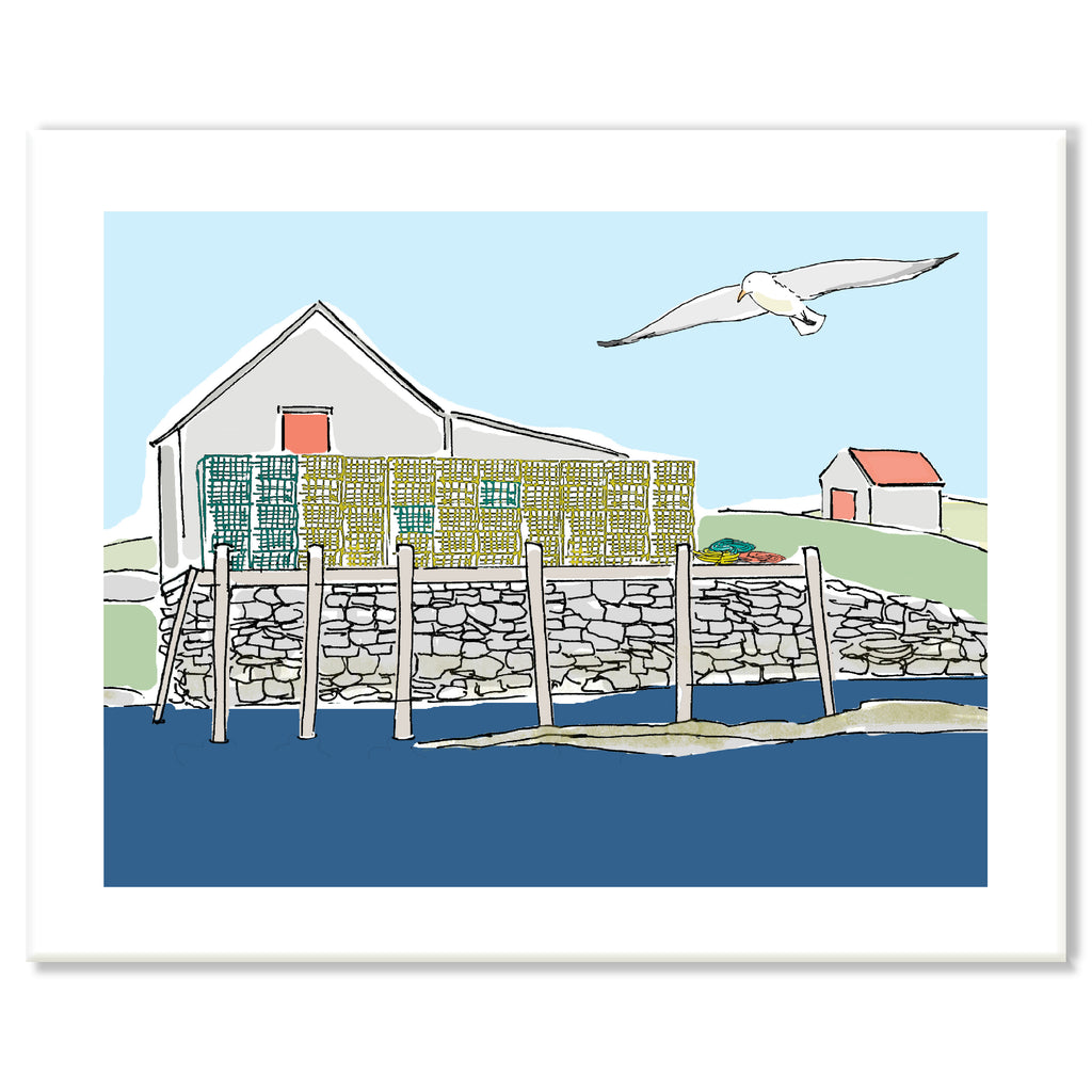 Lobster Traps Print