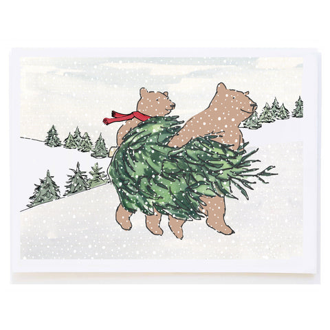 Bears Carrying Tree