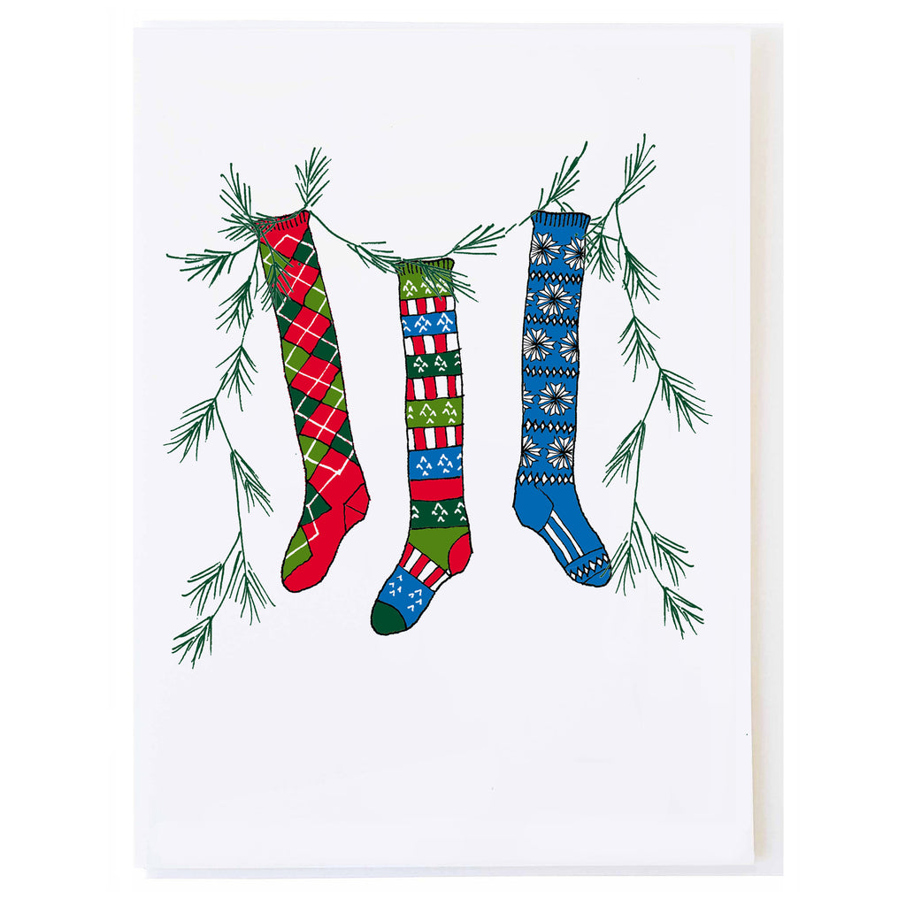 Christmas Socks (small card)