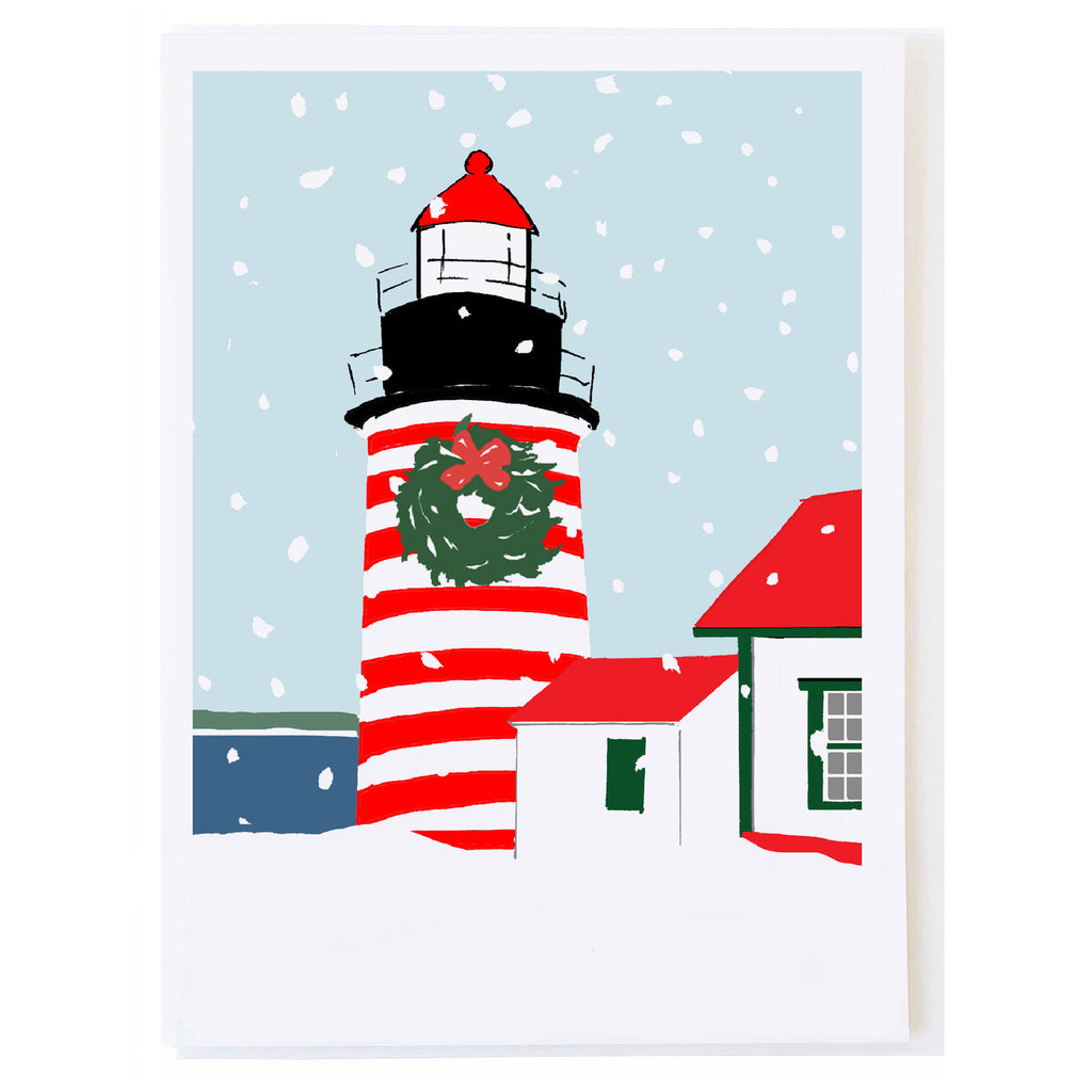 West Quoddy Light in Snow
