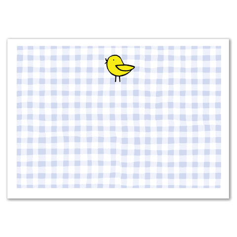 Bird Gingham Announcement