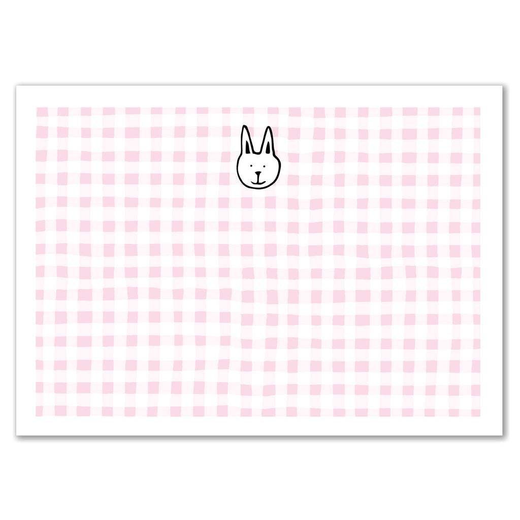 Bunny Gingham Announcement