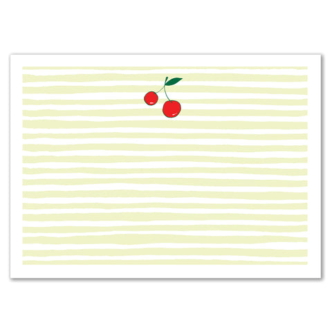 Cherries Stripes Announcement