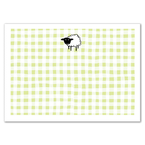 Sheep Gingham Announcement