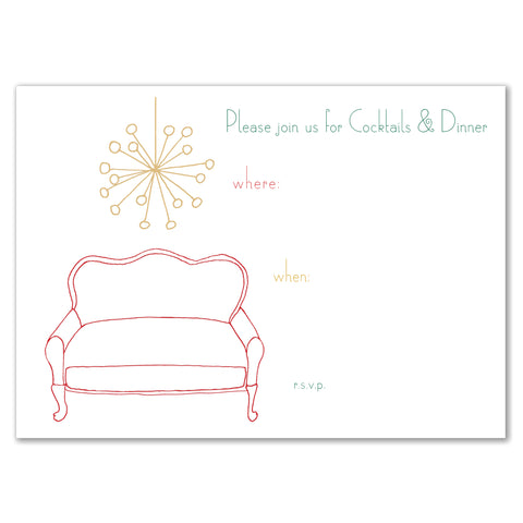 Loveseat & Chandelier Invitation