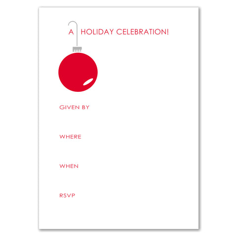Red Ornament Invitation