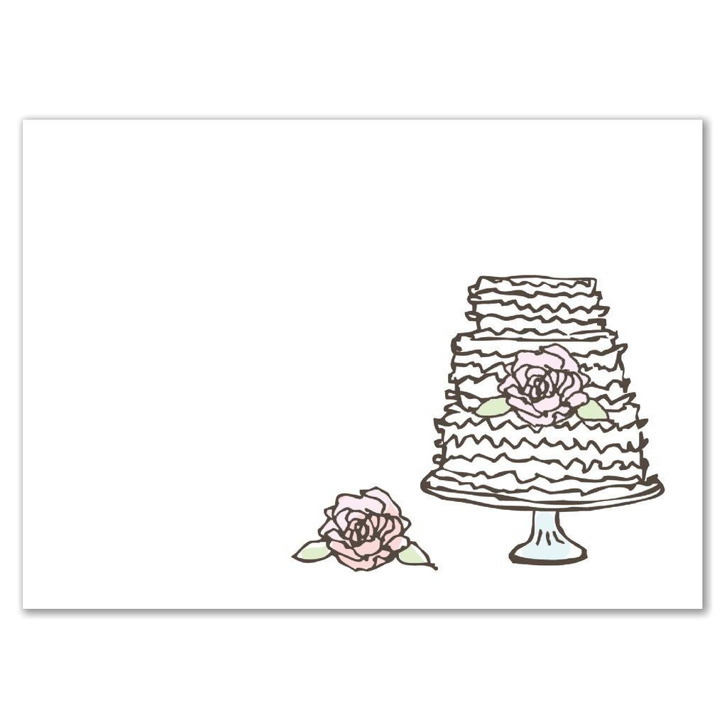 Rose Cake Invitation