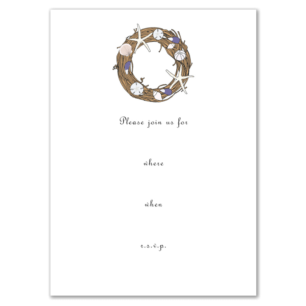 Shell Wreath Invitation
