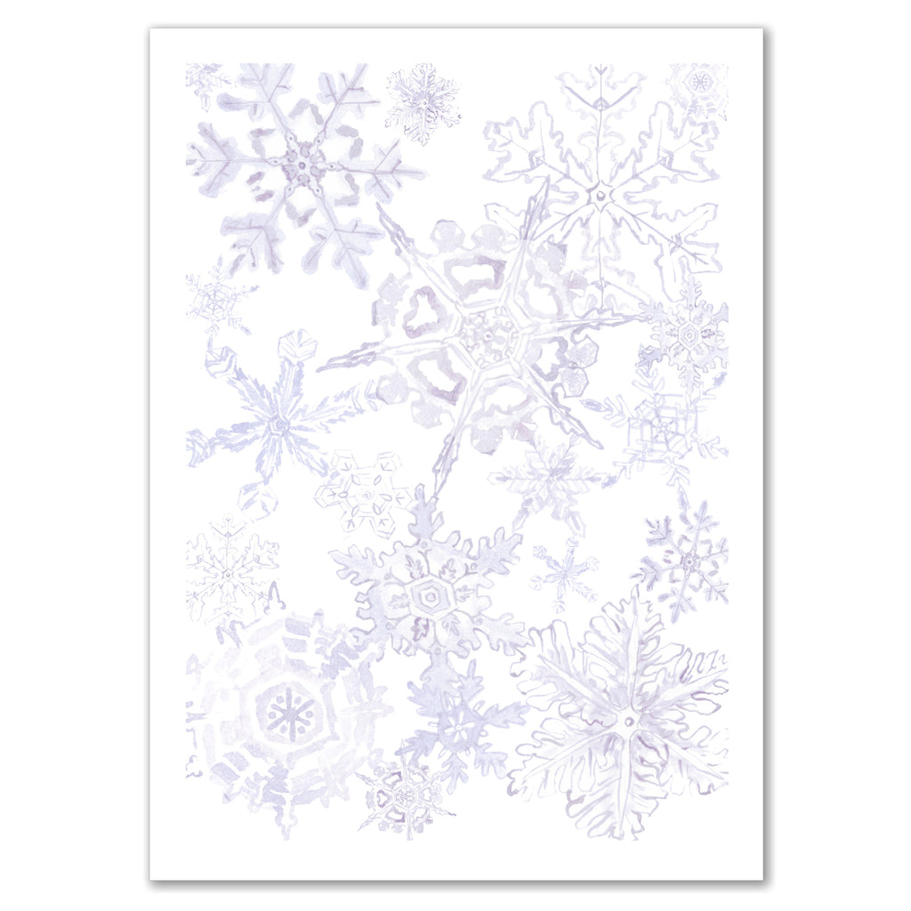 Snowflake Print Invitation