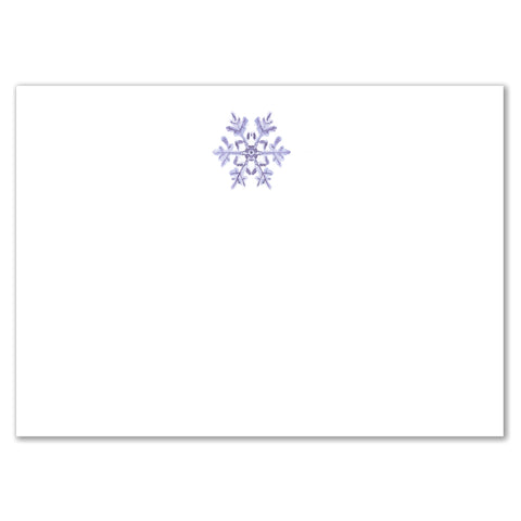 Snowflake Reply Card