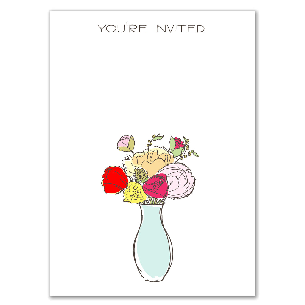 Vase of Flowers Invitation