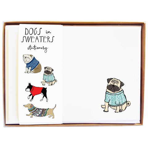 Dogs in Sweaters Stationery