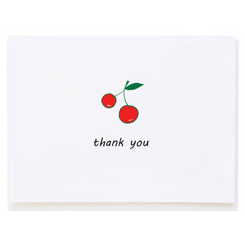 Cherries Thank You (small card)