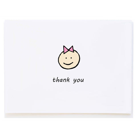 Baby Girl Thank You (small card)