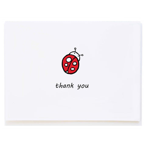 Ladybug Thank You (small card)