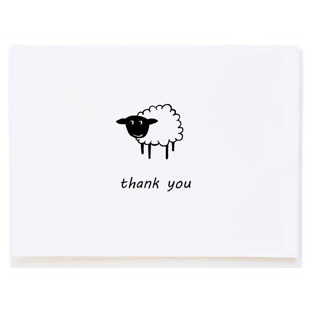 Sheep Thank You (small card)