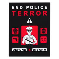 STICKERS: end police terror