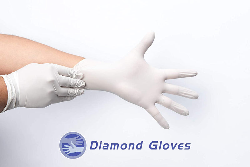100Pcs Gloves IF35 Disposable Nitrile Powder Free ( Large )