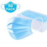 (50 PCS) 3 Ply Non-Woven Disposable Face Mask with Nose Pin
