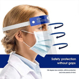 Reusable Anti-Fog Face Shields with Adjustable Headbands and Foam Padding (2-Packs)